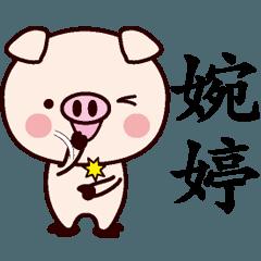 婉婷専用名前スタンプ中国語版