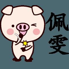 佩専用名前スタンプ中国語版