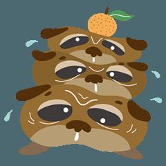 [LINEスタンプ] 愛らしいブルドッグとパグの仲間達