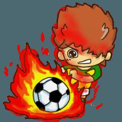 ヒーローになりたい少年。サッカー。