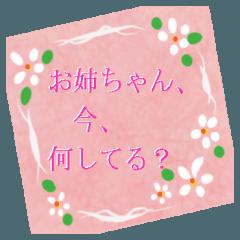 [LINEスタンプ] お姉ちゃんと話すとき、便利なスタンプ。