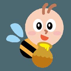[LINEスタンプ] ミツバチのスマイリー