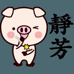 靜芳専用名前スタンプ中国語版