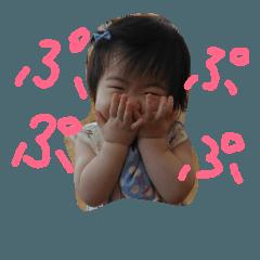 女の子の赤ちゃんスタンプ
