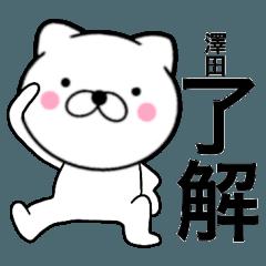 【澤田】が使う主婦が作ったデカ文字ネコ