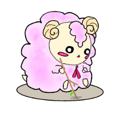 [LINEスタンプ] 綿菓子羊のぽぅ (1)
