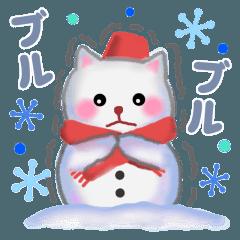 雪だるまネコさん 2018