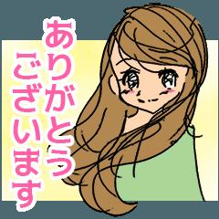 女子女子スタンプ☆敬語と感情