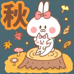 ウサコとネココの日常【秋】ハロウィン