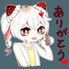 ツインテ・ショートケーキ少女