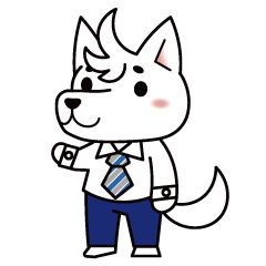 白い犬の北海道犬・でかもじ