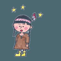 LOCO DD インディアン少女