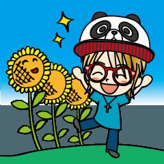 向日葵と笑顔