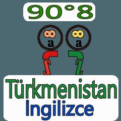 90°8 英語 トルクメニスタン