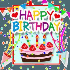 動く♪おめでとう♥お祝い♥お誕生日