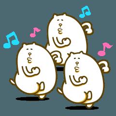 [LINEスタンプ] キモカワ集団!しろニャッツ