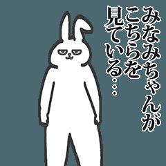 みなみちゃん専用の名前スタンプ