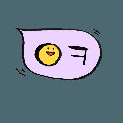 手書きハングル(韓国語)