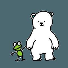 小熊とかえる