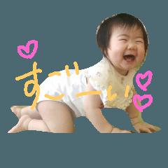 女の子の赤ちゃんスタンプ2