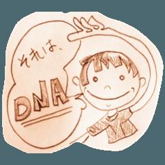ノートの隅の落書きスタンプ (生物工学)