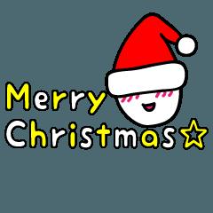 ハッピーちゃんのメリークリスマススタンプ