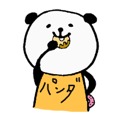 Tシャツで語る!パンダのシュールスタンプ