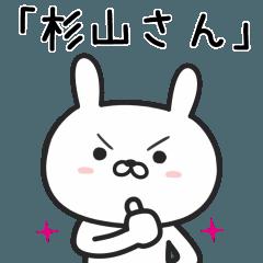 【杉山】さんが使うウサギ