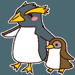 365日使いたい!イワトビペンギンの親子