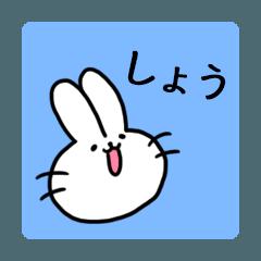 しょうスタンプ1(ウサギくん)