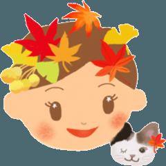 リロちゃんの秋スタンプ