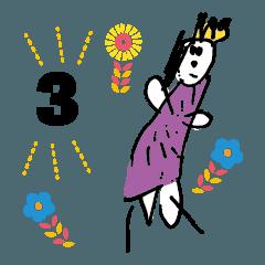 [LINEスタンプ] うちの三歳児画伯