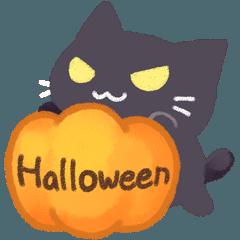 ハロウィンと黒猫