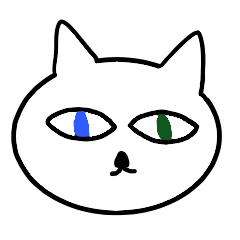 The cat is a lot of color