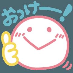 パステルカラー★手書き風スマイル