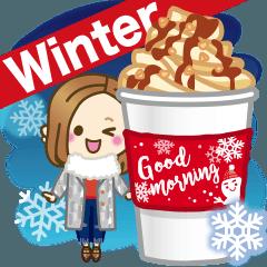 【冬&年賀あり】大人が使える日常スタンプ