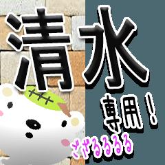 ★武士語の清水さん★(写真背景付き)