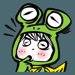 蛙スタンプ