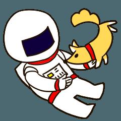 [LINEスタンプ] 宇宙飛行士の宇宙旅行