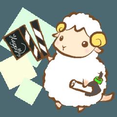 [LINEスタンプ] 夢見る羊のテレビディレクター
