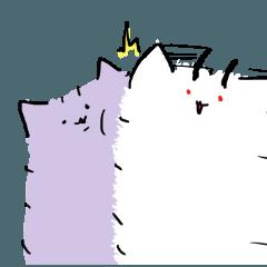 [LINEスタンプ] 紫ポメ+aスタンプ