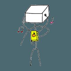 箱の棒人間