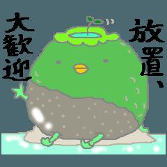 [LINEスタンプ] 丸苔河童
