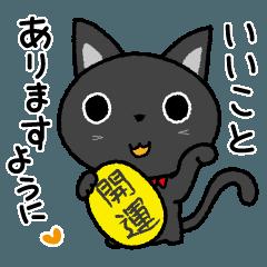 [LINEスタンプ] 黒猫いわし