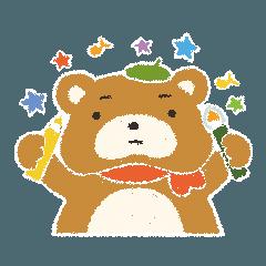 画家クマさんのスタンプ