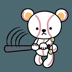 [LINEスタンプ] 野球クマさん2の画像(メイン)