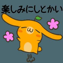 愛媛弁&伊予弁のみかんうさぎ2