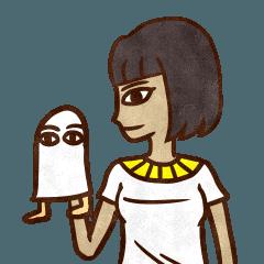 エジプト壁画風女子