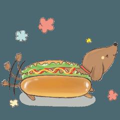 ダックスフントとおいしい食べ物