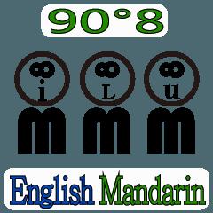 90°8 英語 マンダリン